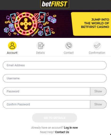 The-Online-Casino-NL-BetFIRST-Casino-Registratieformulier